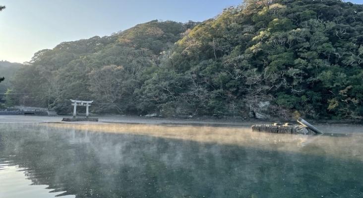 Fans de videojuego colaboran en la reconstrucción del Heisei Otorii del santuario Watatsumi Foto Campfire