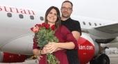 Propuesta de matrimonio a bordo de un vuelo de Austrian Airlines | Foto: Austrian Airlines