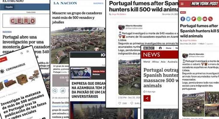 La prensa internacional se hace eco de la masacre en una 'zona de caza turística' de Portugal