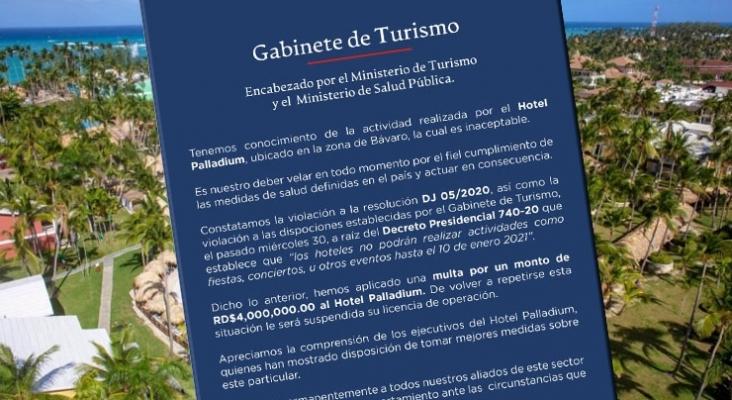 """República Dominicana multa a Palladium por una """"inaceptable"""" fiesta de Nochevieja"""