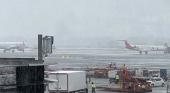 Filomena consigue paralizar el Aeropuerto de Madrid-Barajas| Foto Sampeiro