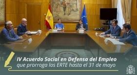 Alcanzado el acuerdo para prorrogar los ERTE hasta el 31 de mayo