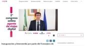 El vicepresidente de la Junta, Juan Marín, ha inaugurado el 2º Congreso del Agente de Viajes Digital, que reúne a unos 3.000 profesionales