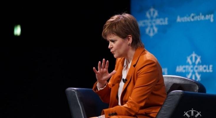 Nicola Sturgeon, primera ministra de Escocia. Foto de Wikimedia Commons (licencia CC) en ArcticCircle 2017. httpscreativecommons.orglicensesby2.0