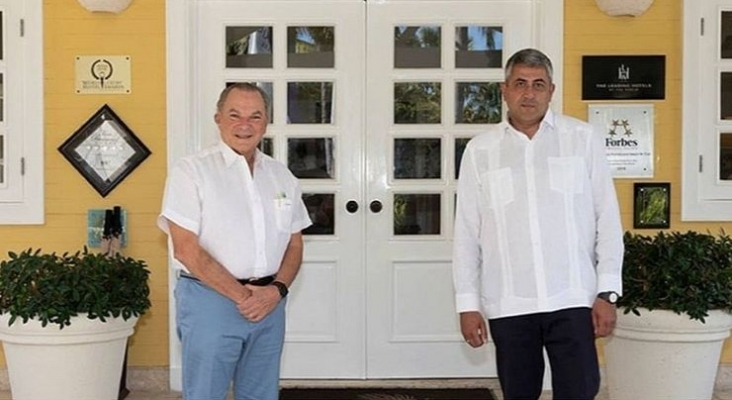 Frank Rainieri junto a Zurab Pololikashvili