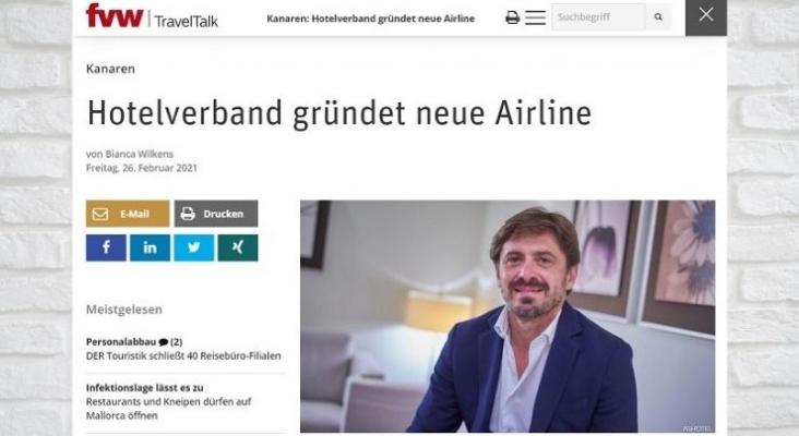 La prensa alemana se hace eco del nacimiento de una aerolínea canaria impulsada por hoteleros