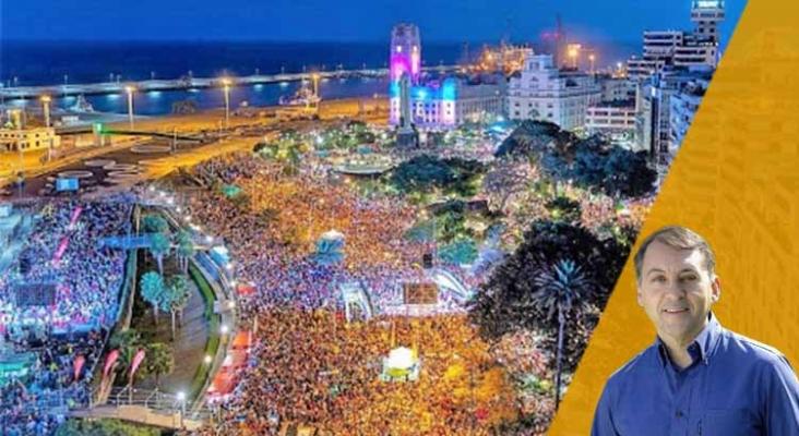 """""""Vamos a trabajar para que la recuperación del Carnaval de Santa Cruz de Tenerife sea instantánea""""   José Manuel Bermúdez"""
