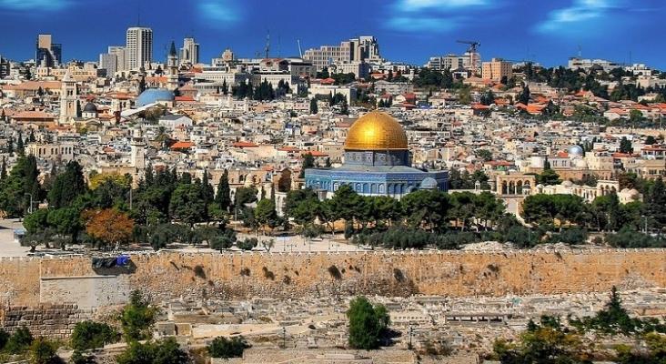 Vista aérea de Jerusalén, en Israel, uno de los países que lidera la vacunación contra el Covid