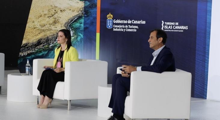 'Canarias Destino' redefinirá el modelo turístico de las Islas en los próximos tres años | En la imagen Yaiza Castilla y José Juan Lorenzo