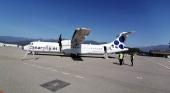 Avión de Canaryfly cedido bajo wet lease a Andorra Airlines