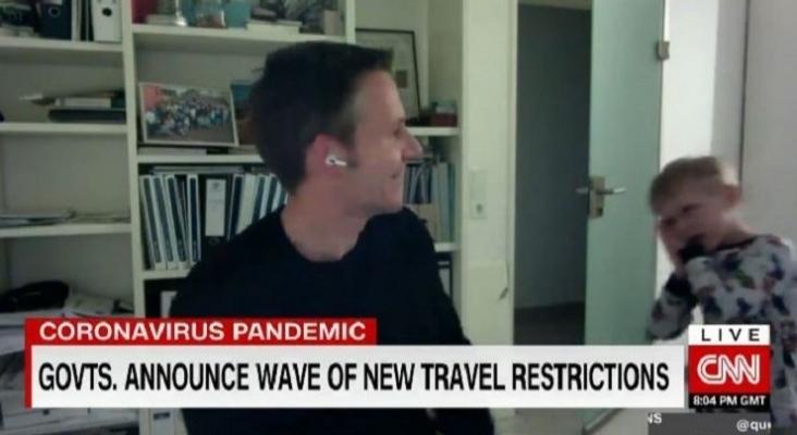 El hijo del CEO de Trivago interrumpe una entrevista en directo y se hace viral