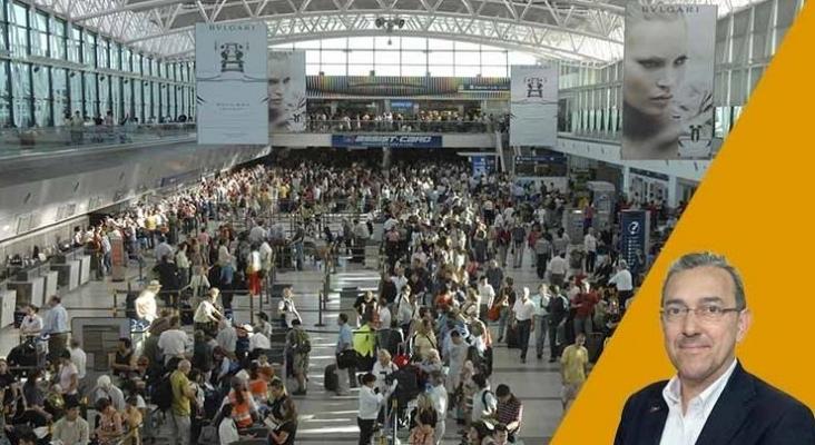 Aglomeraciones en aeropuerto