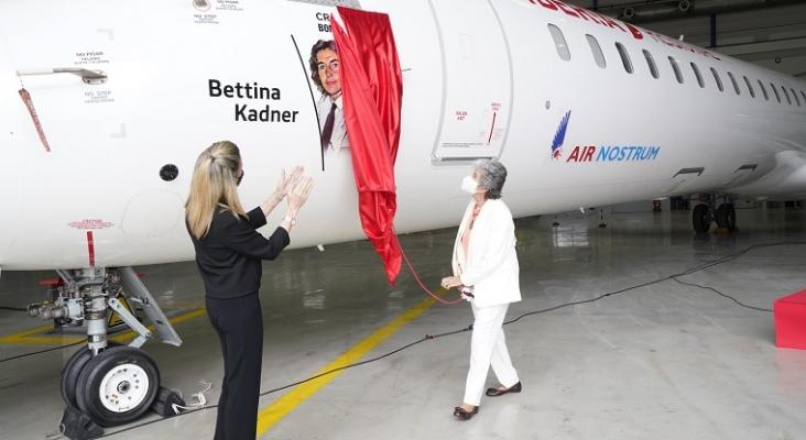 Air Nostrum homenajea a Bettina Kadner, la primera mujer en pilotar un vuelo comercial en España | Foto: Air Nostrum