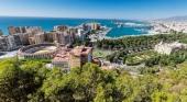 Ciudad de Málaga vista desde arriba