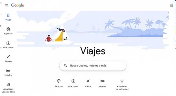 Google Travel ofrece enlaces gratuitos a hoteles y agencias de viajes
