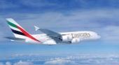 Avión de Emirates (A380)   Foto  Emirates