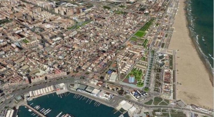 Valencia mantiene el hotel de 15 plantas en el Cabanyal a pesar de las advertencias de Costas. Recuperado de www.valenciaplaza.com