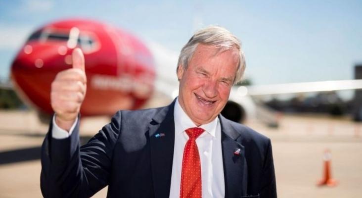 Bjørn Kjos, antiguo CEO de Norwegian Air Shuttle, prepara el nuevo lanzamiento de Norse Atlantic Airways (NAA). Foto de www.a21.com.mx