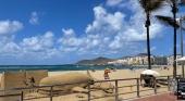 Arte con arena. Playa de Las Canteras. Foto Tourinews