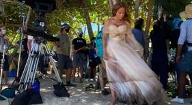 Jennifer López en un rodaje de una película en Río San Juan (República Dominicana) | Foto: Jennifer López