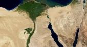 Vista aérea del Canal de Suez