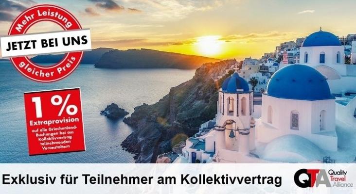 QTA ofrece comisión adicional en las ventas de viajes a Grecia