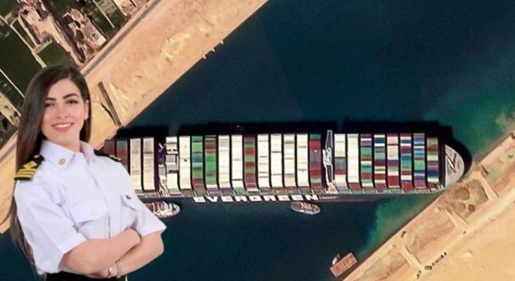 Un bulo culpa del accidente en el Canal de Suez a la primera mujer egipcia capitana de barco. Foto instagram Marwa Elselehdar