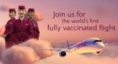 Qatar Airways completa el primer vuelo con tripulación y pasajeros vacunados contra la Covid-19