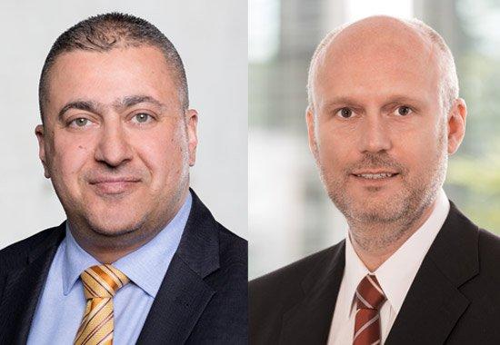 Yildrim a la izquierda, tomará el puesto de CEO para suceder a Dirk Burneleit, a la derecha