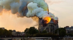 Francia tala cerca de 2.000 robles centenarios para reconstruir la aguja de Notre Dame (París) | Foto ngenespanol.com