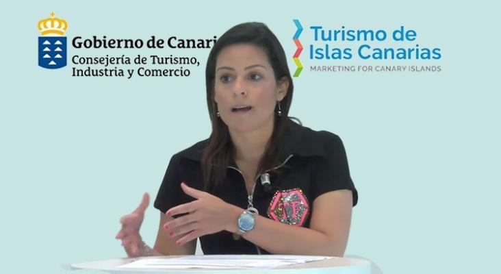 Turismo de Canarias afronta la reactivación con una nueva estrategia promocional | En la imagen: Yaiza Castilla, consejera de Turismo del Gobierno de Canarias