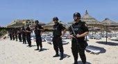 Policía para garantizar la seguridad antiterrorista