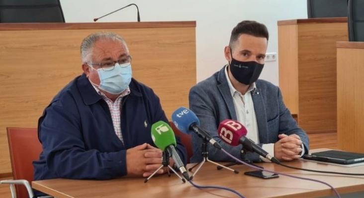Antoni Marí y Mariano Juan en la comparecencia de este martes   Consell de Ibiza