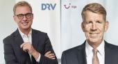 Norbert Fiebig, presidente de DRV, y Fritz Joussen, CEO de TUI Group