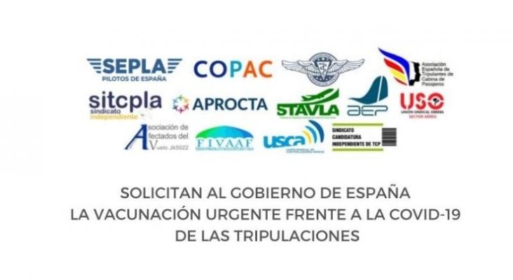 Pilotos y tripulantes de cabina se unen para pedir la vacunación urgente de las tripulaciones | Foto aviaciondigital.com