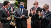 El secretario general de la OMT y el ministro de Turismo inauguran el stand de Dominicana en FITUR | Foto: República Dominicana