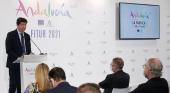 Juan Marín, consejero de Turismo andaluz, presenta la nueva campaña de Andalucía de la que Antonio Banderas será la nueva imagen