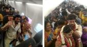 Una pareja india celebra su boda en un avión para poder invitar a 161 personas a pesar del Covid | Imagen vía twitter @ANI