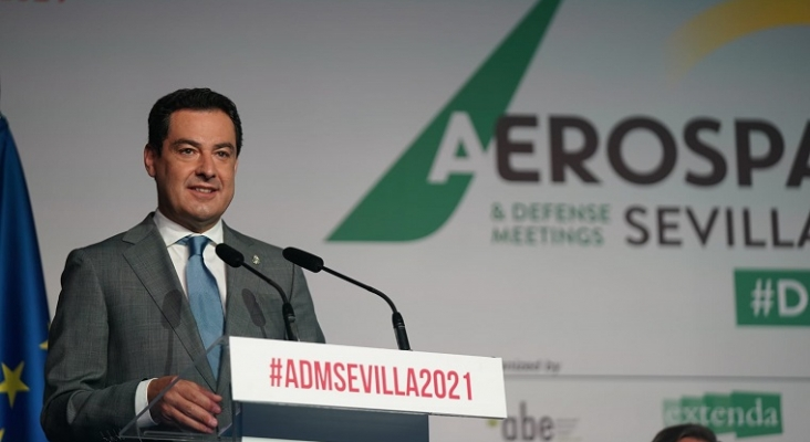 La industria aeroespacial andaluza recibirá una inversión de 572 millones   Foto: @JuanMa_Moreno