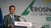La industria aeroespacial andaluza recibirá una inversión de 572 millones | Foto: @JuanMa_Moreno