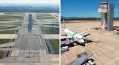 200 asociaciones y empresas se unen para reclamar la ampliación del Arpto. de Barcelona | A la izquierda el aeropuerto de El Prat y a la derecha el aeropuerto de Girona