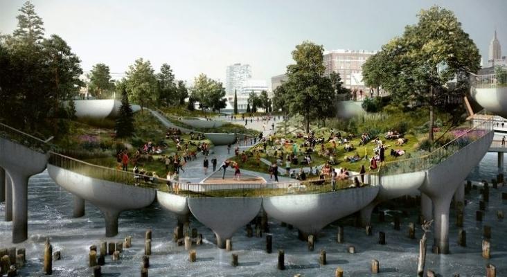 Nueva York inaugura Little Island, un parque sobre el muelle 54 del río Hudson   Foto arquitecturaviva.com
