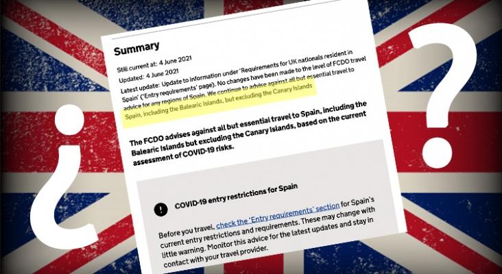 Reino Unido mantiene a Canarias como zona de riesgo para viajar