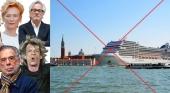 Mick Jagger y otros 20 famosos firman una carta en contra del regreso de los cruceros a Venecia