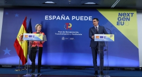 Ursula von der Leyen, presidenta de la Comisión Europea y Pedro Sánchez, presidente del Gobierno de España | Foto www.lamoncloa.gob.es