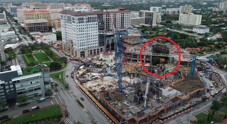 Un hombre se resiste a vender su casa para un megaproyecto que incluye un hotel en Miami (EE. UU.)   Foto: theplazacoralgables.com