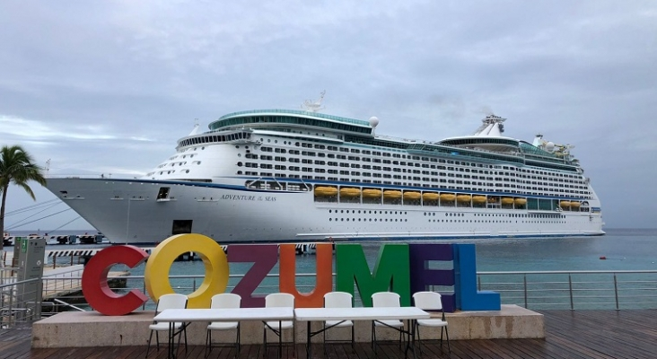 Cozumel (México), primer puerto de Latinoamérica en recibir dos cruceros en un día   Foto: @PedroJoaquinD vía Twitter