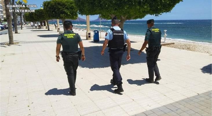 Pese al descenso del turismo, las patrullas mixtas vuelven a las costas españolas   Foto Guardia Civil, Ministerio del Interior