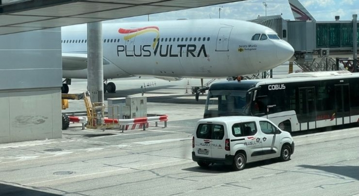 Plus Ultra en el aeropuerto de Adolfo Suárez Madrid-Barajas   Foto: Tourinews