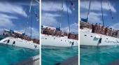 Polémica por un paseo nudista en barco sin medidas anti-Covid en Cancún (México)